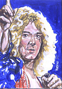 Robert Plant Painting Framed Prints - Robert Plant Framed Print by Bryan Bustard