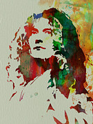 Led Zeppelin Painting Metal Prints - Robert Plant Metal Print by Irina  March