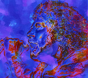Singer Songwriter Digital Art - Robert Plant by Jack Zulli