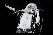 Robert Plant Pastels - Robert Plant by Kenneth  Williams