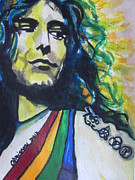 Lead Vocalist Paintings - Robert Plant.. Led Zeppelin by Chrisann Ellis