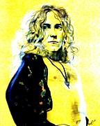 Robert Plant Pastels - Robert Plant of Led Zeppelin   by Jim Fitzpatrick