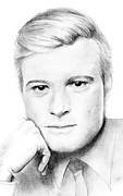 Robert Redford Print by Mary Mayes
