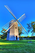 Old Mills Framed Prints - Robert Sherman Windmill Framed Print by Andrew Pacheco