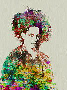Rock Music Paintings - Robert Smith Cure 2 by Irina  March