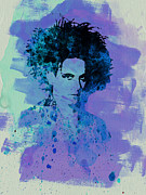 Concert Painting Framed Prints - Robert Smith Cure Framed Print by Irina  March