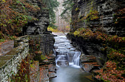 Autumn Water Prints - Robert Treman State Park Print by Robert Harmon