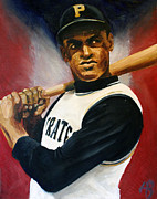 Clemente Painting Originals - Roberto Clemente by Adam Barone