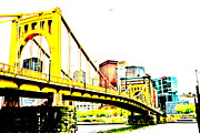 Jay Nodianos Metal Prints - Roberto Clemente Bridge Metal Print by Jay Nodianos