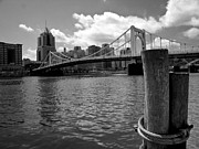 Roberto Clemente Metal Prints - Roberto Clemente Bridge Pittsburgh Metal Print by Amy Cicconi
