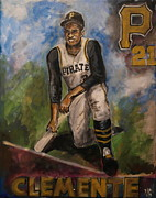 Roberto Clemente Inspiration Print by John Barth
