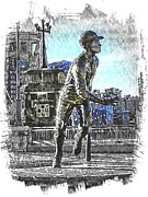 Roberto Clemente. Pittsburgh Pirates Digital Art Prints - Roberto Clemente Statue Print by Spencer McKain