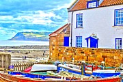 Dave Woodbridge Framed Prints - Robin Hoods Bay Framed Print by Dave Woodbridge