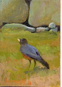 Stonewall Painting Originals - Robin by Sara Drought Nebel