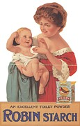 Nineteen-tens Art - Robin Starch 1911 1910s Uk Babies by The Advertising Archives