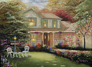 Kinkade Framed Prints - Robinson House Framed Print by Cecilia  Brendel