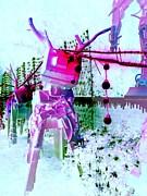 Robo Reindeer Print by Randall Weidner