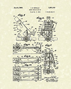 Device Drawings Framed Prints - Robot Device 1943 Patent Art Framed Print by Prior Art Design