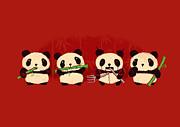 Robot Panda Print by Budi Satria Kwan
