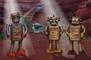 Robots With Attitudes  Print by Mike McGlothlen