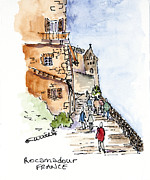 Bright Appearance Painting Prints - Rocamadour  Print by Barbara Wirth