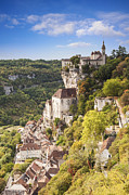 Autumn Metal Prints - Rocamadour Midi-Pyrenees France Metal Print by Colin and Linda McKie