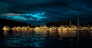 Haybales Art - Roche Harbor  at Sunset by Robert Bales