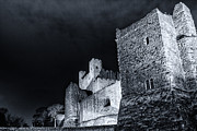 Rochester Prints - Rochester castle at Night Print by Ian Hufton
