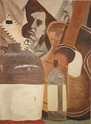 Guitar Painting Originals - Rock and Roll by Janet C Stevens