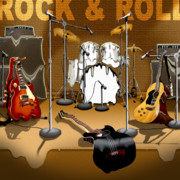 Bass Digital Art - Rock and Roll Meltdown by Mike McGlothlen