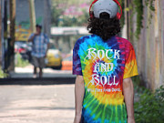 Rock And Roll Will Free Your Soul Print by Merv Scoble