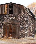 Ron Roberts Photography Photographs Prints - Rock Barn Print by Ron Roberts