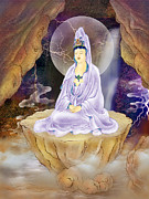 Kwan Yin Framed Prints - Rock Cave Avalokitesvara Framed Print by Lanjee Chee