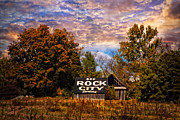 Rock City Barn Print by Debra and Dave Vanderlaan