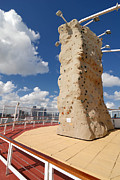 Exercise Posters - Rock Climbing Wall on Cruise Ship Poster by Amy Cicconi