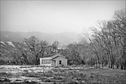 Old Schoolhouses Prints - Rock Creek School House Print by Big Horn  Photography