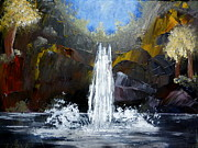 Waterfalls Paintings - Rock Falls by Krista May