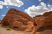 Colorful Cloud Formations Posters - Rock formations Valley of fire Poster by Jane Rix