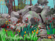 Prescott Mixed Media Posters - Rock garden Poster by Craig Nelson