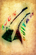 Music Digital Art - Rock Guitar by Anthony Caruso