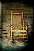 Wicker Chair Prints - Rock Me Gently Print by Colleen Kammerer