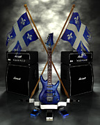 Rock N Roll Crest - Quebec Print by Frederico Borges