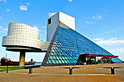 Iconic Guitar Prints - Rock n Roll Hall of Fame Print by Robert Harmon