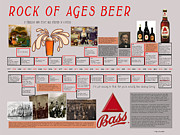 Bass Ale Posters - Rock of Ages Bass Beer Timeline Poster by Megan Dirsa-DuBois