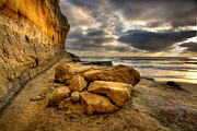 Torrey Pines Prints - Rock Pile Print by Peter Tellone
