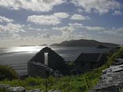 Rock Ruin By The Ocean - Ireland Print by Mike McGlothlen