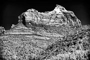 Rock Shapes Posters - Rock Shapes in Sedona Poster by John Rizzuto