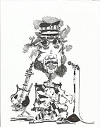 Rock Star Drawings - Rock Star by Philip Blanche