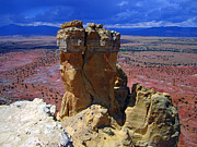 New Mexico Prints - Rock Statue Print by Mike Podhorzer