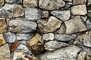 Surface Prints - Rock wall  Print by Les Cunliffe